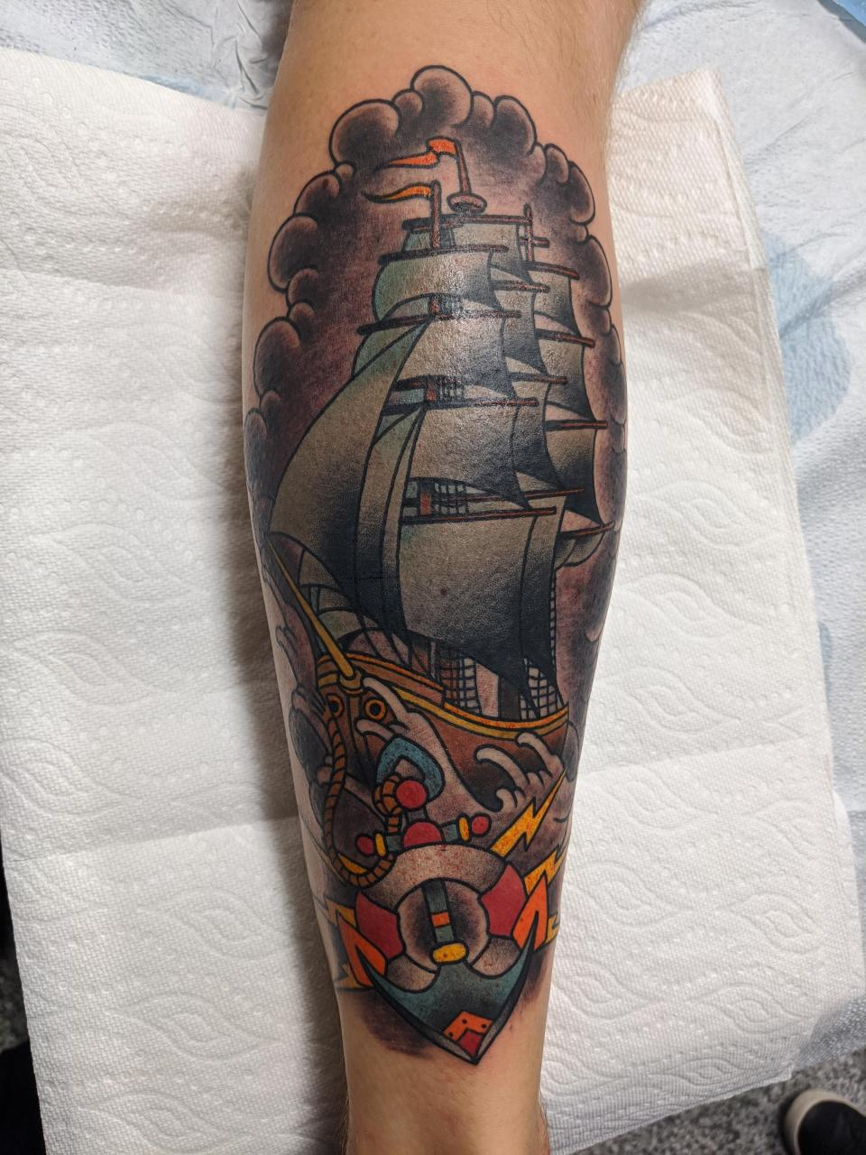 Any love for neo-traditional? Here's my bangin' leg piece, done by Rich James at John Street Tattoo in Hamilton, Ontario!