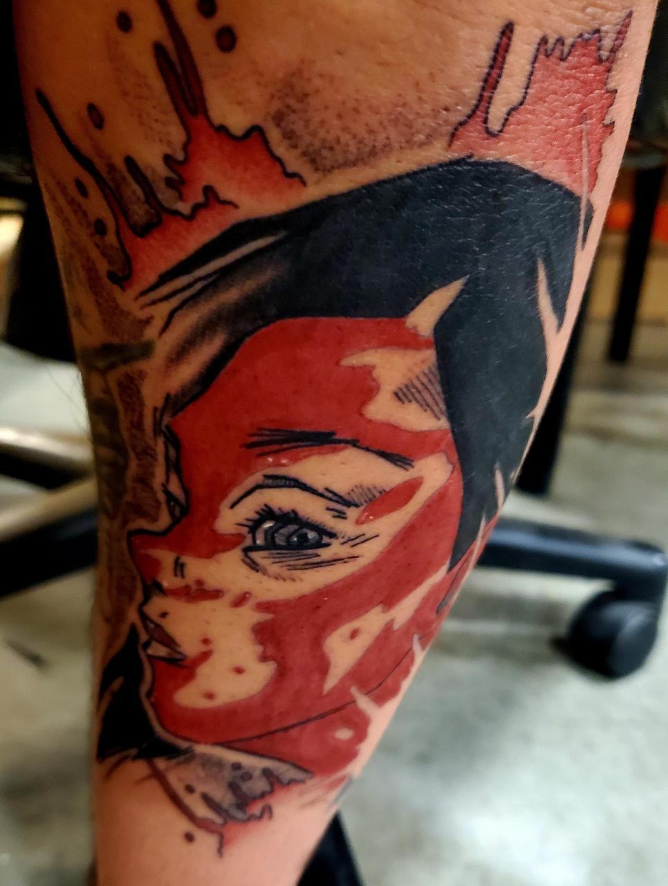O-Ren Ishii, 2 Days Healed, Done by Cassie Scytha at A Thin Line, Batavia, IL