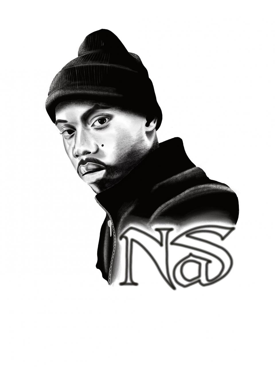 Did a little nas piece,I hope to be doing a lot of hip hop inspired tattoos like this when I'm ready! Don't see enough of these