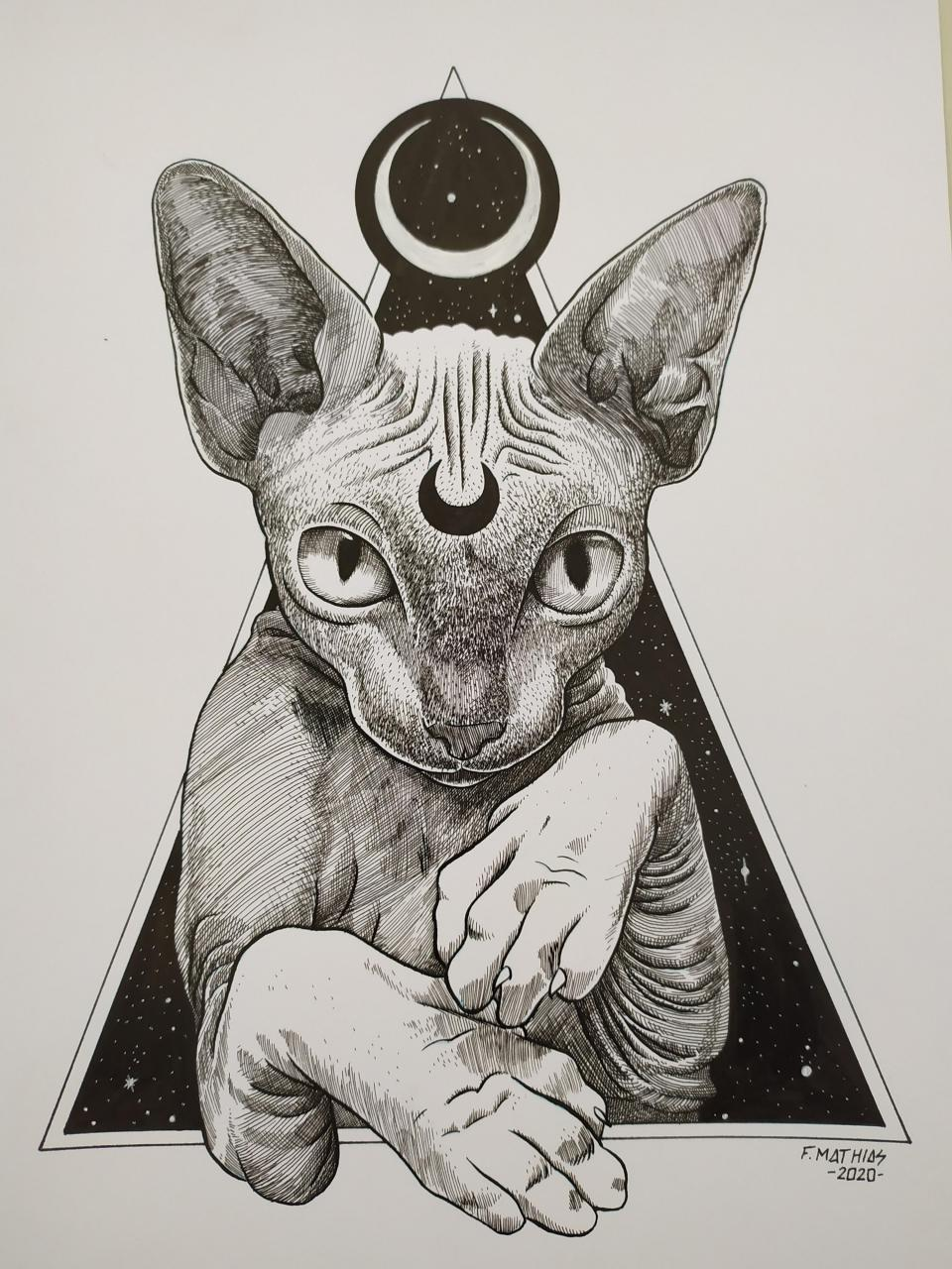 Luna the cat. I'm open for commissions, if you're interested DM me.