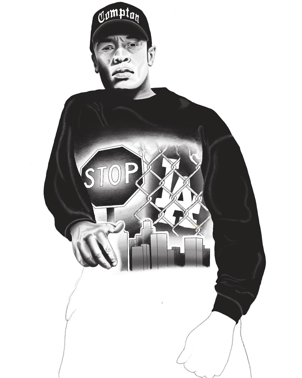 Progress shot on a Dr Dre piece iv been putting together...still unsure if it really works,what do you guys do think?