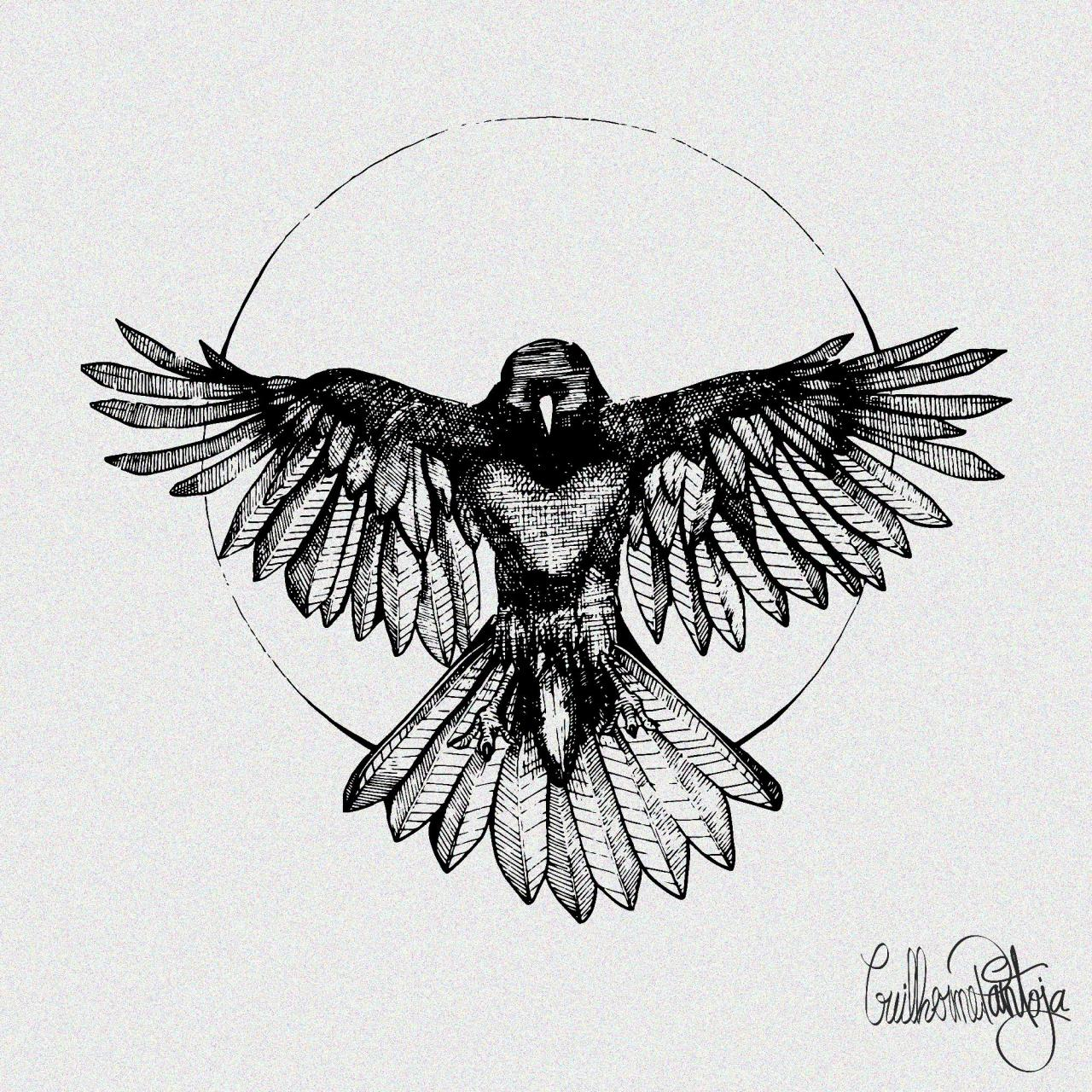 Raven i designed a while back. I do tattoo designs in dotwork and linework in nature themes. Let me help you with yours!