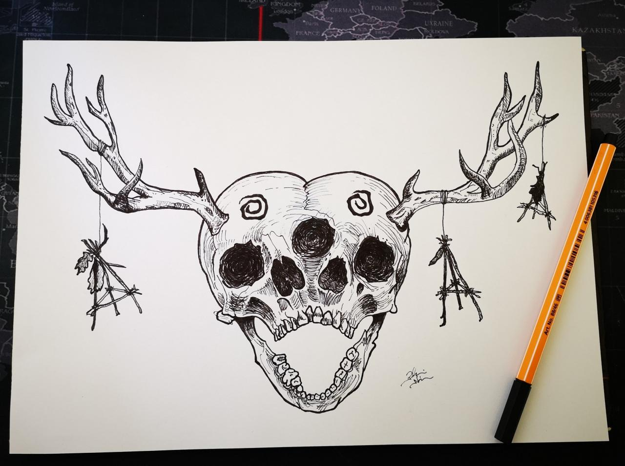 True Detective inspired tattoo design. Just recently started to practice drawing and design a few tattoo. Any feedback apreciated. (ig: @plesonandi)