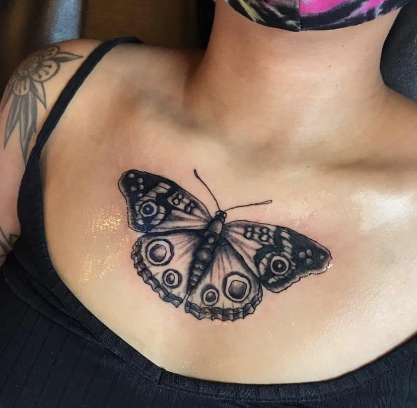 My Chest Tattoo done by Sally at Mansfield Tattoo Boutique