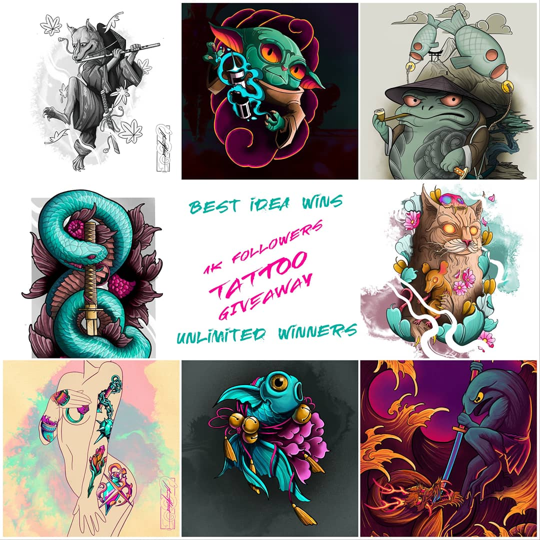 I am organising a tattoo designs giveaway, on my instagram @mus.tattoo , best idea wins