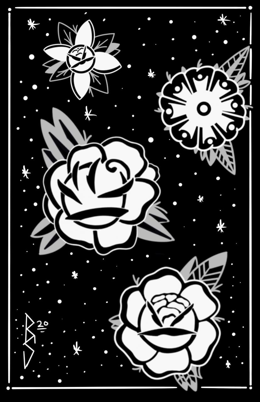 Fun little flash sheet of some flowers I did for my illustration class. Still learning digital medium. Critique welcome