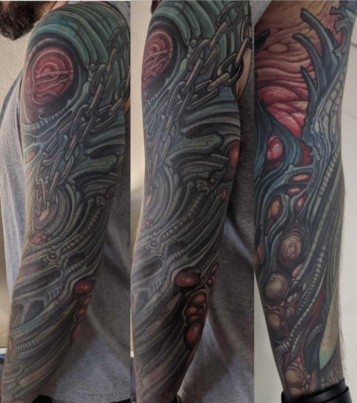Biomech arm (Paco Dietz at Graven Image, Santa Clara CA)