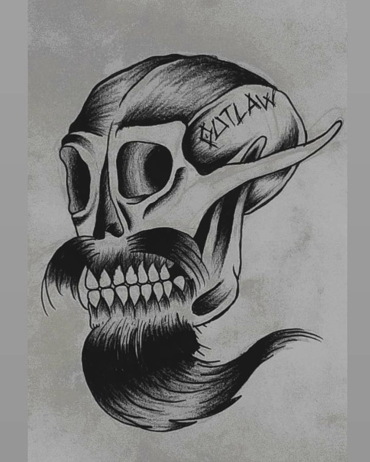 Traditional Skull, it's GG Allin!