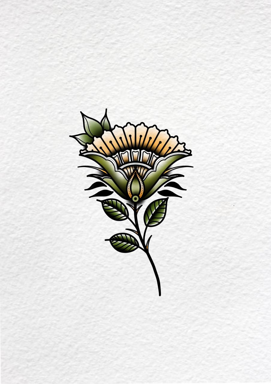 Traditional flower, I'm on IG @rustyshackleferdd for neo/traditional tattoo designs.