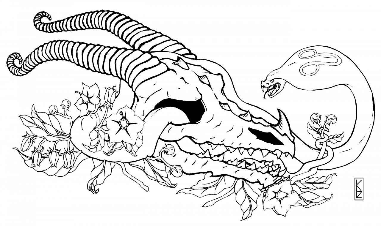 Commissioned: Dragon Skull, Cobra, and Nightshade