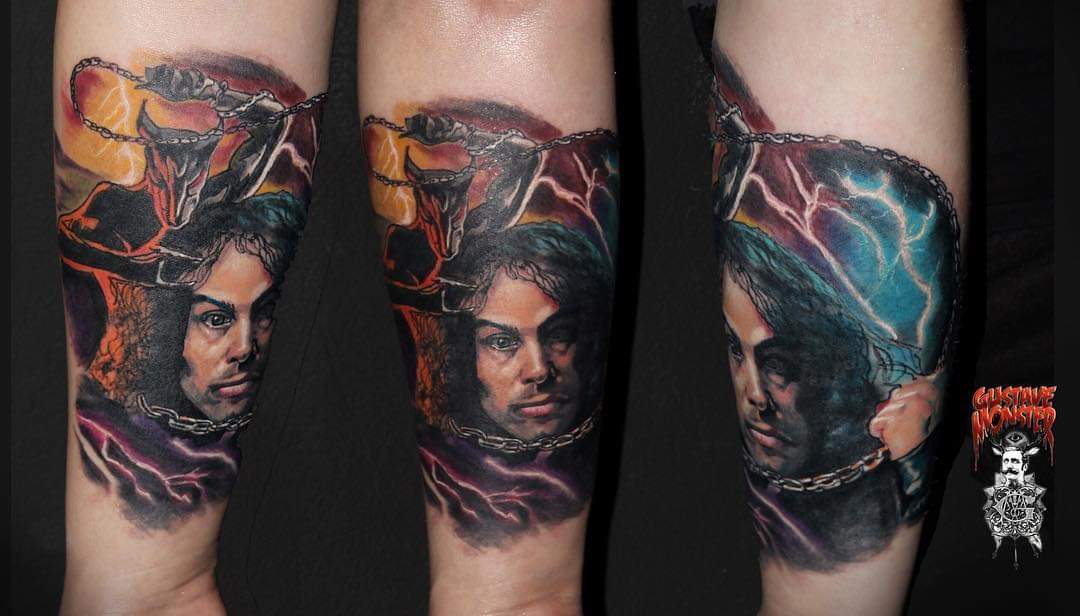 Ronnie James Dio by GustaveMonster (IG). St Petersburg. My arm