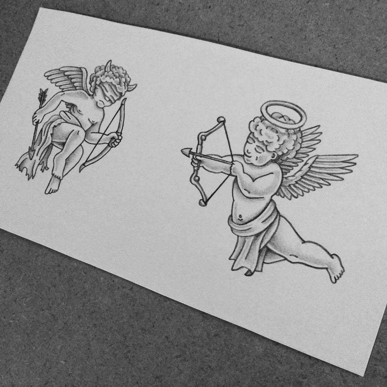 Good vs Evil Cherubs tattoo design I made