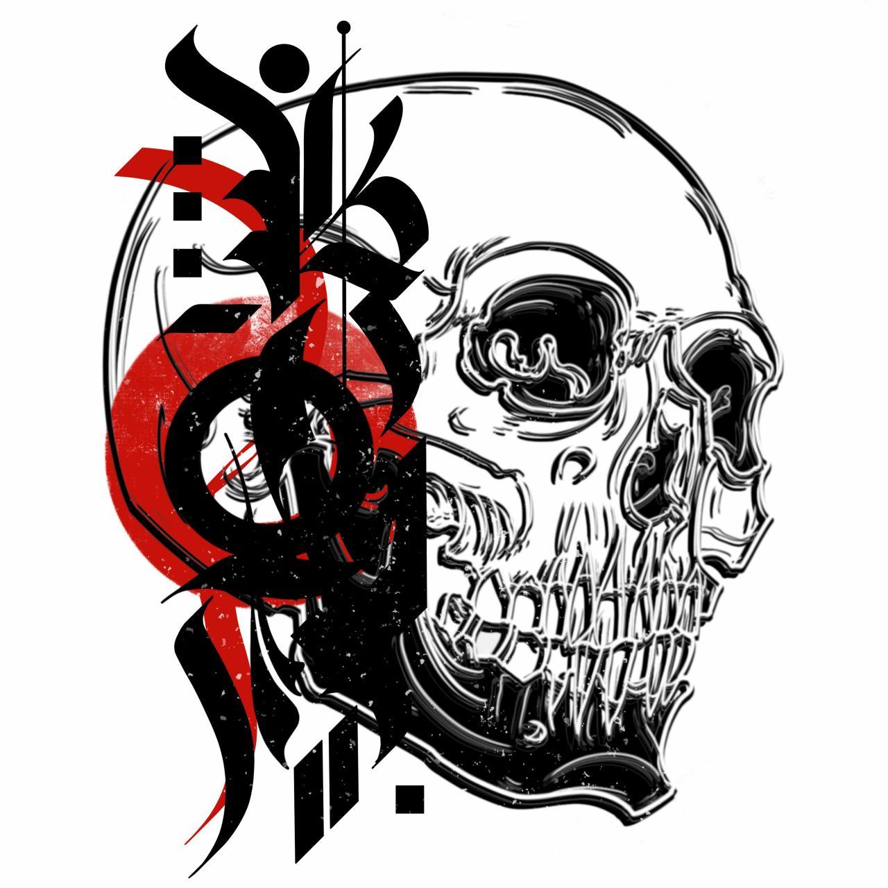 calligraffiti skull – I'm open for commissions – PM for cutom designs
