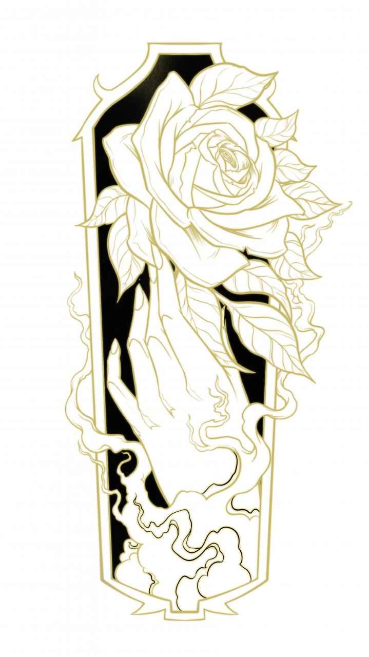 🌹 The Golden Rose 🌹 Forearm design ready for a client in Charlotte!